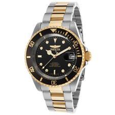 Invicta Men's Pro Diver Gold-tone Steel Bracelet & Case Automatic Black Dial
