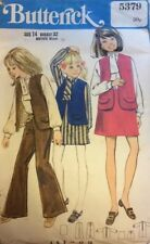 VTG 60s 70s Butterick Girls Dress Blouse Vest Skirt Trousers Size14 Bust 32