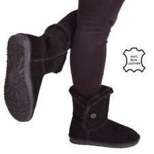 Snow, Winter Zip 100% Leather Upper Regular Boots for Women