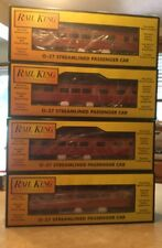 Rail King Southern Pacific 4 Box Car Set, 2 Vista Dome Cars, Passenger, Observ