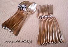 12 couverts à entremets en métal argenté modèle Baguette orf.Varin&cie