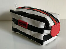 KENNETH COLE REACTION BLACK & WHITE TRAVEL MAKEUP COSMETIC ORGANIZER CLUTCH BAG