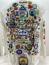 Vtg 70's Nylon Jacket Bell Western Electric Pioneers Disney Employee Patches M