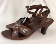 Hispanitas UK 8 EU 41 Brown Leather Ladies Sandals Shoes Open Toe