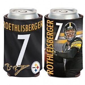 Pittsburgh Steelers Ben Roethlisberger Can Cooler - Coozie Koozie Holder Drink