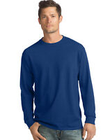 Hanes Long-Sleeve T-Shirt 4-Pack Tee ComfortSoft Men's 100% Cotton Heavyweight