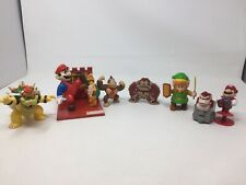 Lot of 6 Nintendo Super Mario Donkey Kong, Bowser, Link Figures Jakks, TM Hasbro
