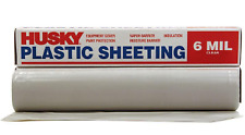 Husky 20 x 50 ft. Clear 6 mil Plastic Sheeting, Extra Heavy Duty Coverall Roll