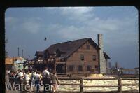 1949 Kodachrome Photo slide Chicago Railroad train Fair #10