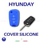 Shell Cover Silicone Blue Remote Control Key 3 Buttons Hyundai I10 I20 I30 IX20
