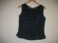 Monsoon twilight top size 10, navy blue with beading, lined, hardly worn.