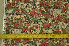 """By-the-Half-Yard, 42"""", Garden Theme on Tan Quilter's Cotton, Hobby Lobby M6432"""