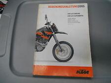 KTM Factory Maintenance Service Owner' Manual Handbook 05 640 LC4 Enduro