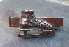 Vintage Ice Skate Skating Tie Clip Clasp Bar