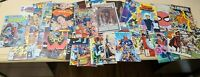 Mixed Lot of 63 DC & MARVEL Comics HULK, SPIDERMAN, TEEN TITANS, X-MEN ETC