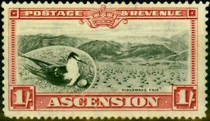 Ascension 1934 1s Black & Carmine SG28 Fine Very Lightly Mtd Mint