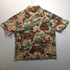 Genuine Hawaiian Aloha Shirt - Hawaiian Reserve Collection - XL - Ukes and cars