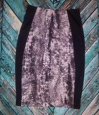 Mossimo snakeskin pencil skirt gray black panel xs stretchy 25x23.5