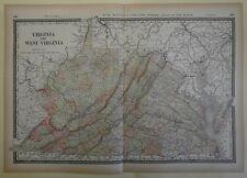 1823 WV MAP MONONGALIA RANDOLPH NICHOLAS CALHOUN COUNTY West Virginia History XL