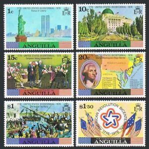 Anguilla 217-222,222a,MNH.USA-200.Statue of Liberty,Capitol,Battle Map,Tea Party