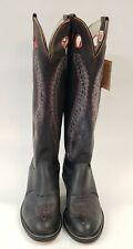 "New Olathe 6424 Buckaroo Extra Tall 20.5"" Black Cowboy Boots Size 11D Rare Flaws"