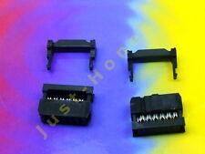 Stk.2x IDC 12 (2x6) polig/way Stecker - für Flachbandkabel / Ribbon 2.54mm #A144