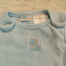 New listing Vintage McBaby Outfit 0-3 Months Blue embroidered lion