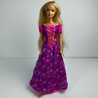 Barbie Dreamtopia Doll Fashion Rose Princess Dress Blue Eyes 2005 Mattel