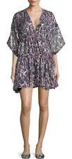 French Designer Brand IRO Paris Silk Gathered Tunis Dress Sz S