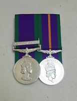 Court Mounted Full Size Medals, GSM Northern Ireland & ACSM Medal, Army