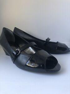 ETIENNE AIGNER Black Patent Leather Duma Shoe Size 9M