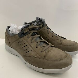 New Rockport Truflex Lace to Toe Taupe Men's Athletic Sneakers 10.5 M