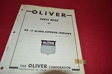 Oliver Tractor No. 17 Manure Spreader Dealer's Parts Book Manual BVPA