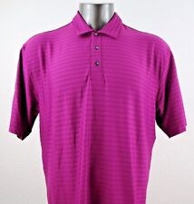 Nike Fit Dry Tiger Woods Men's Short Sleeve Purple Polo Shirt Size L