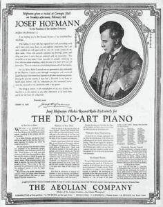 JOSEF HOFMANN (1876-1957) DUO-ART PIANO ROLLS CD