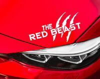 The Red Beast Auto Aufkleber Limited Edition Sticker Tuning Motorsport Rot JDM