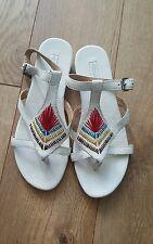 Koolaburra New Womens Deven Sandal Luna Crackle Leather Size 6 New