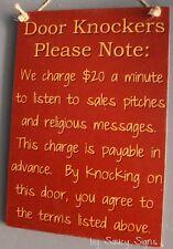 Rst Door Knockers Sign No Soliciting Wooden Door Bar Man Cave Workshop Welcome