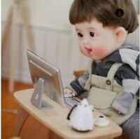 1/12 Scale Dollhouse Miniature Laptop Mini Table Computer Model Toy BJD Doll Hou