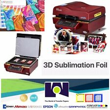 "US 8.5""x11"" Size 3D Sublimation Transfer Film / Foil 100 Sheets FREE SHIPPING"