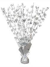 Glitz Silver Wedding Anniversary Balloon Weight Centrepiece