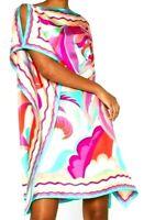 New NWT Emilio Pucci Acapulco Silk Kaftan Beach Coverup Dress US 10 12 / IT 46