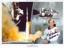 AL WORDEN signed multi image photo - Apollo 15 Command Module Pilot - COA: 7558