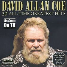 20 All Time Greatest Hits by David Allan Coe (CD, Aug-2002, Teevee Records)