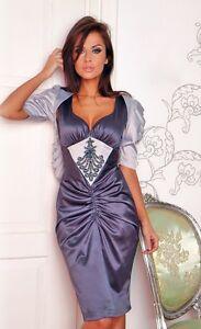 New Ladies Cocktail Party Evening Classic Bolero Dress Size  8 - 18