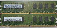 4 GB 2X2 GB DDR2 PC2-6400 6400u DDR2-800 MHz MEMORY DIMM pc desktop Ram 240 Pin