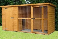 Dog kennel and run 10x4 (6ft high)