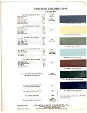 1949 PONTIAC CHIEFTAIN SILVER STREAK STREAMLINER DELUXE PAINT CHIPS ROGERS ACME2