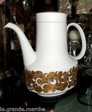 ROSENTHAL STUDIO LINIE TAPIO WIRKKALA GOLD FLOWER POWER MID CENTURY COFFEE POT