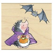 PENNY BLACK RUBBER STAMPS COUNT HEDGULA HEDGEHOG HALLOWEEN NEW wood STAMP